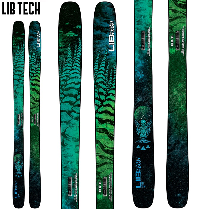 -LIBTECH リブテック- スキー板 単品 [LIBTECH UFO 95] ユーフォ—95 21-22モデル 送料無料