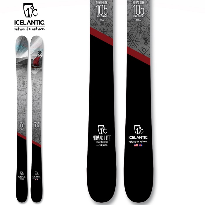 -ICELANTIC アイスランティック- スキー板 単品  [ICELANTIC NOMAD LITE] ノマド ライト 20-21モデル 送料無料