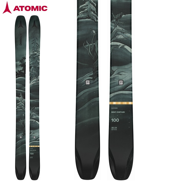 -ATOMIC アトミック- スキー板 単品  [ATOMIC BENT CHETLER 100] ベントチェトラー100 21-22モデル 送料無料