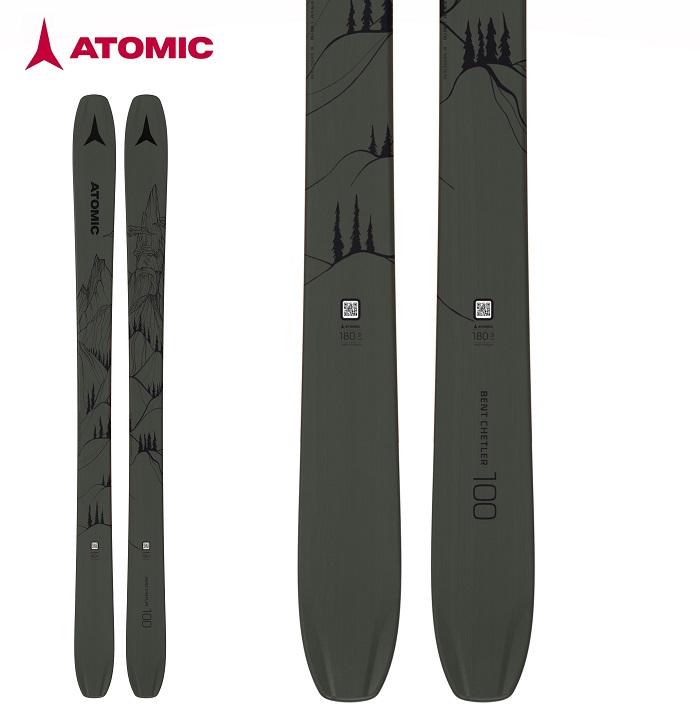 -ATOMIC アトミック- スキー板 単品  [ATOMIC BENT CHETLER 100] ベントチェトラー100 20-21モデル 送料無料