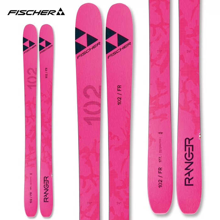 -FISCHER フィッシャー- スキー板 単品 [FISCHER RNG 102 FR PINK] レンジャー102エフアール ピンク 20-21モデル 送料無料