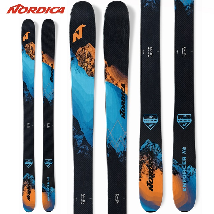 -NORDICA ノルディカ- スキー板 単品  [NORDICA ENFORCER FREE 104 FLAT] エンフォーサー フリー 104 フラット 20-21モデル 送料無料