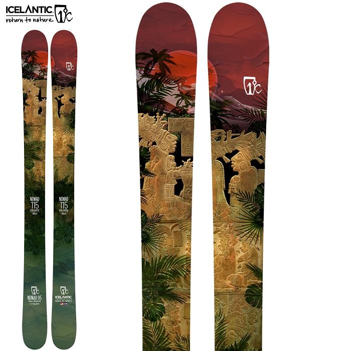 -ICELANTIC アイスランティック- スキー板 単品  [ICELANTIC NOMAD 115] ノマド 115 21-22モデル 送料無料