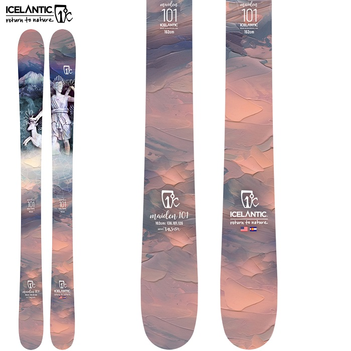 -ICELANTIC アイスランティック- スキー板 単品 レディース [ICELANTIC MAIDEN 101]  メイデン 101 21-22モデル 送料無料