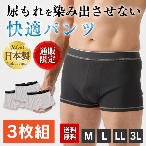 【送料無料】アシストグランパンツ3枚組(ボクサータイプ)