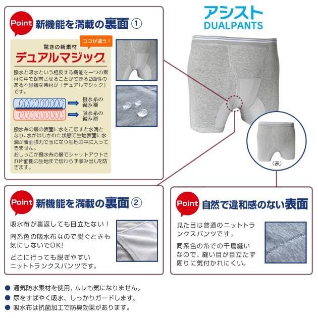 【送料無料】アシストデュアルパンツ5枚組(3Lサイズ)