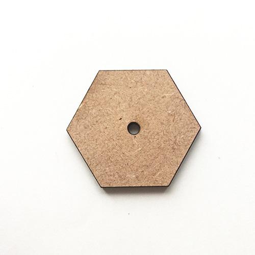 ●糸ボタン_ディスクモールド 六角形A