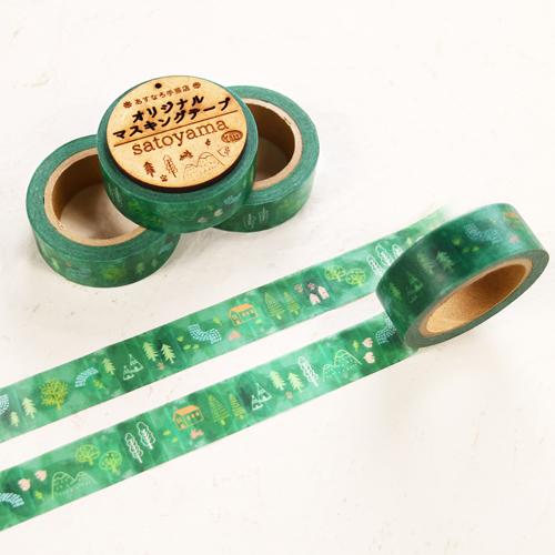 オリジナルマスキングテープ satoyama 幅15mm×長さ7m