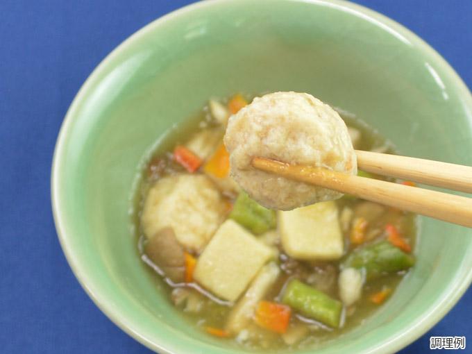 わがやづくし 鶏つくねと高野豆腐の煮物