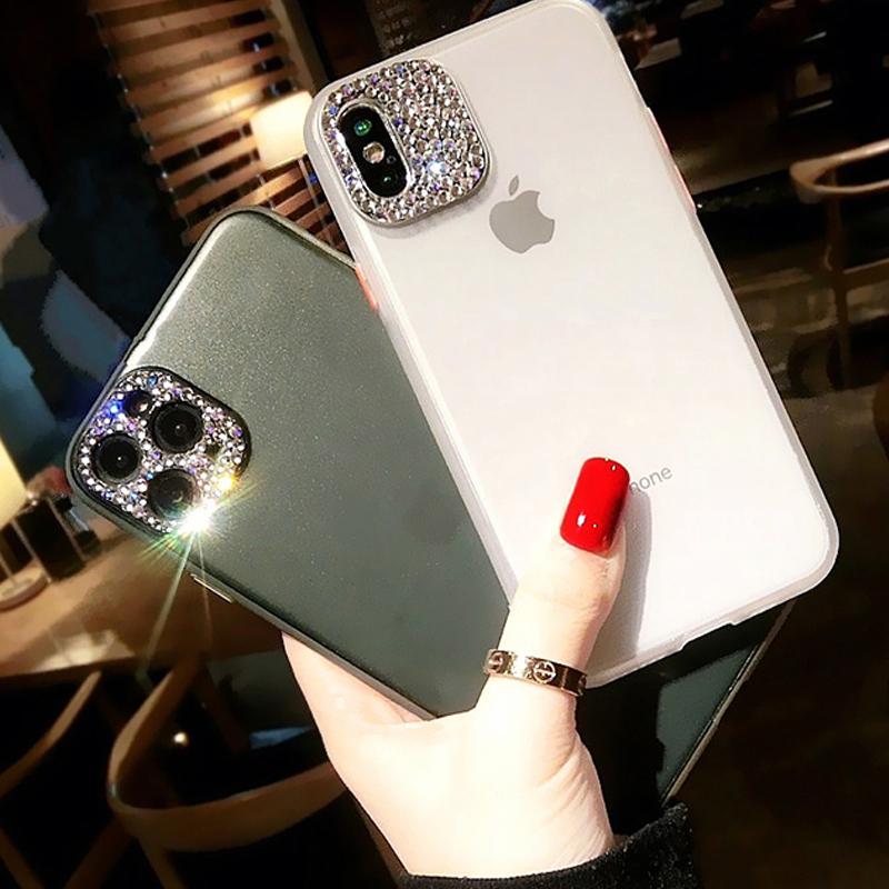 iPhoneSE(第2世代)/8/7対応 iPhone11/11Pro/11ProMax対応 iPhoneXS/X/XR/XSMax対応 iPhone8Plus/7Plus対応 ビジュー 半透明 背面ケース ハードケース TPU OG47
