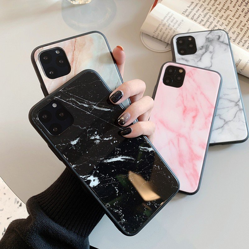 iPhoneSE(第2世代)/8/7対応 iPhone11/11Pro/11ProMax対応 iPhoneXS/X/XR/XSMax対応 iPhone8Plus/7Plus対応 ハードケース 背面ケース TPU 大理石 マーブル 耐衝撃 OG08