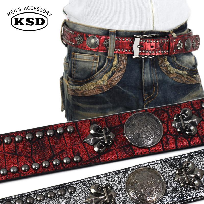 KN/6292<br>DECOBELT<br>ペイントリリースタッズベルト デコレーションベルト 個性的な装飾ベルト