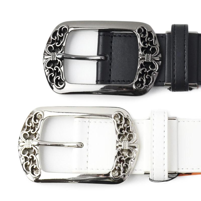 KN/6164<br>DECOBELT<br>パイソン柄スタッズストーンベルト デコレーションベルト 個性的な装飾ベルト