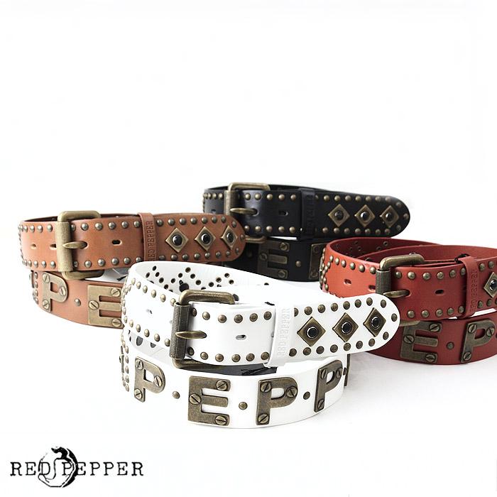 RJ/61UN-37<br>RED PEPPER(レッドペッパー)<br>ベルト 派手 スタッズ カラー 正規品 調節可能 男女兼用