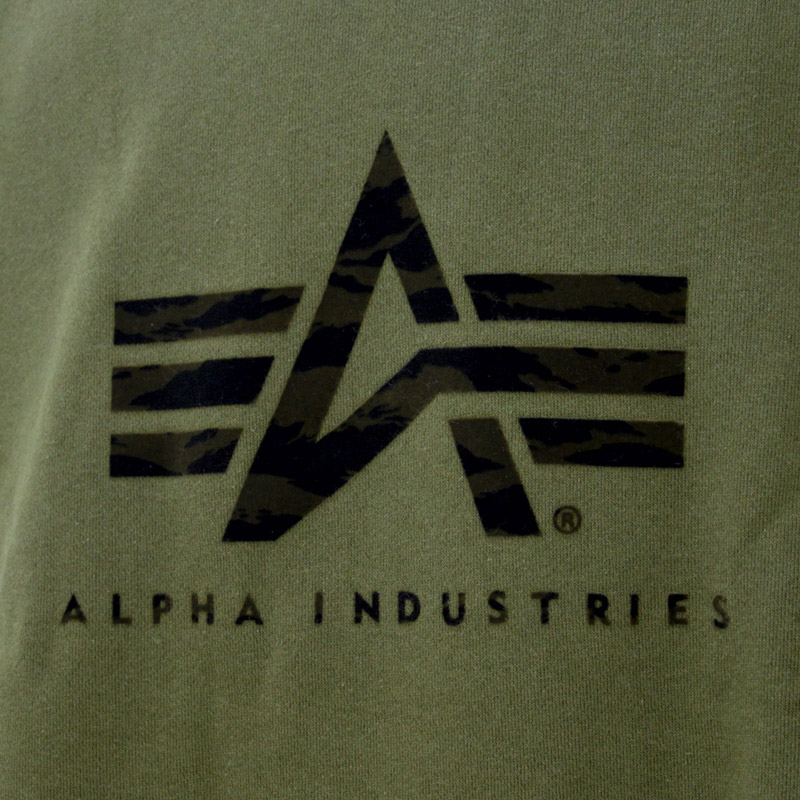 ED/TC1377-102-121<br>ALPHA INDUSTRIES(アルファインダストリーズ)<br>ジャパンスペック スウェット トレーナーロゴ ミリタリー【正規ライセンス品】