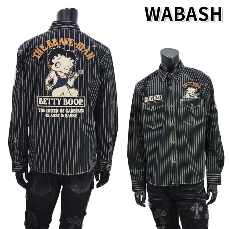 NE/BBB-2040<br>THE BRAVEMAN(ザ ブレイブマン)<br>×BETTY BOOP(ベティー・ブープ) コラボ 刺繍 長袖シャツ