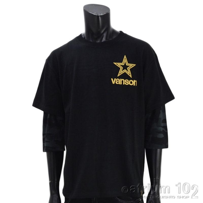 NE/NVLT-2112/VANSON(バンソン)スター天竺7分袖フェイクTシャツ