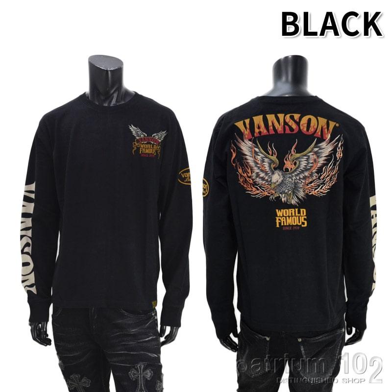 NE/NVLT-2122/VANSON(バンソン)イーグルファイヤーWORLDFAMOUS天竺長袖Tシャツ