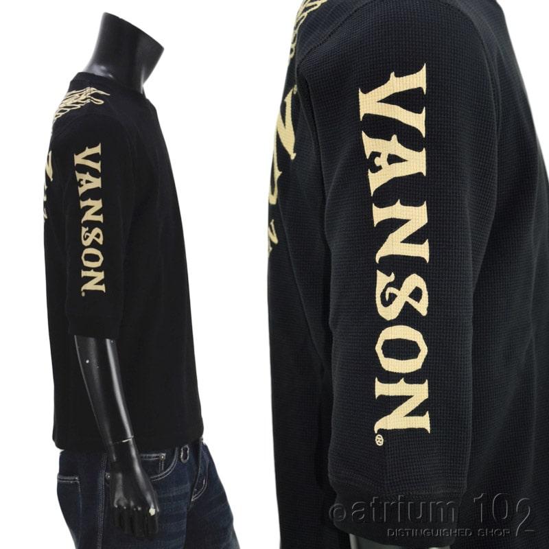 NE/NVLT-2109/VANSON(バンソン)サーマル 6分袖プリントTシャツ