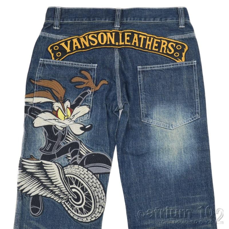 NE/LTV-2125/VANSON(バンソン)ルーニーチューンコヨーテ刺繍ジーンズ デニムパンツ