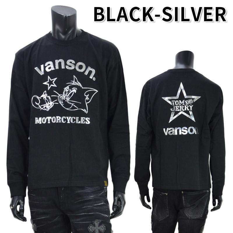NE/TJV-2027<br>VANSON(バンソン)<br>×ワーナー・ブラザースコラボ トムとジェリー エンボスプリント長袖Tシャツ
