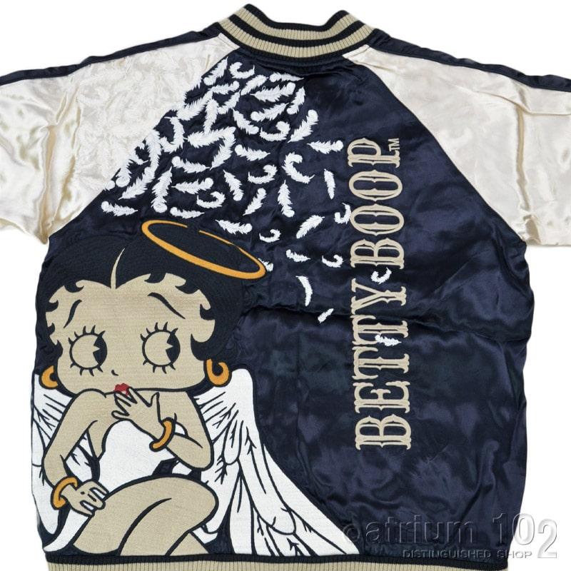 NE/BBB-2146/THE BRAVEMAN(ザ ブレイブマン)×BETTY BOOP(ベティー・ブープ) コラボ 刺繍 リバーシブルスカジャン