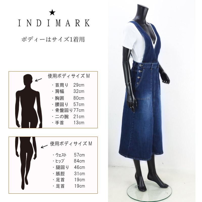RJ/W135<br>INDIMARK(インディマーク)<br>2WAYジャンパースカートストレッチ