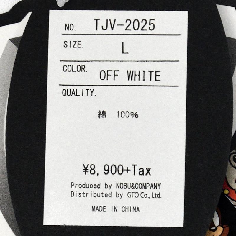 NE/TJV-2025<br>VANSON(バンソン)<br>×ワーナー・ブラザースコラボ トムとジェリー刺繍 天竺長袖Tシャ