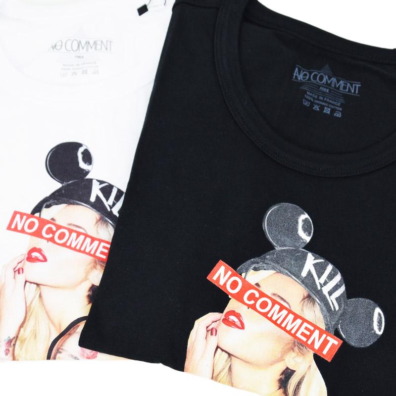 LN/NC-TM.LTN203-1<br>NO COMMENT PARIS(ノー・コメント パリ)<br>tatoo suspenderフォトプリント半袖Tシャツ 【正規代理店仕入れ】