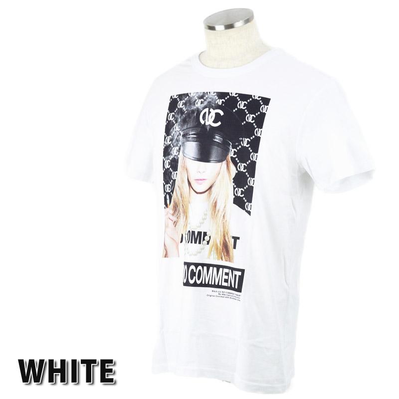 LN/NC-TM.LTN216-1<br>NO COMMENT PARIS(ノー・コメント パリ)<br>German Hat Girl フォトプリント半袖Tシャツ 【正規代理店仕入れ】