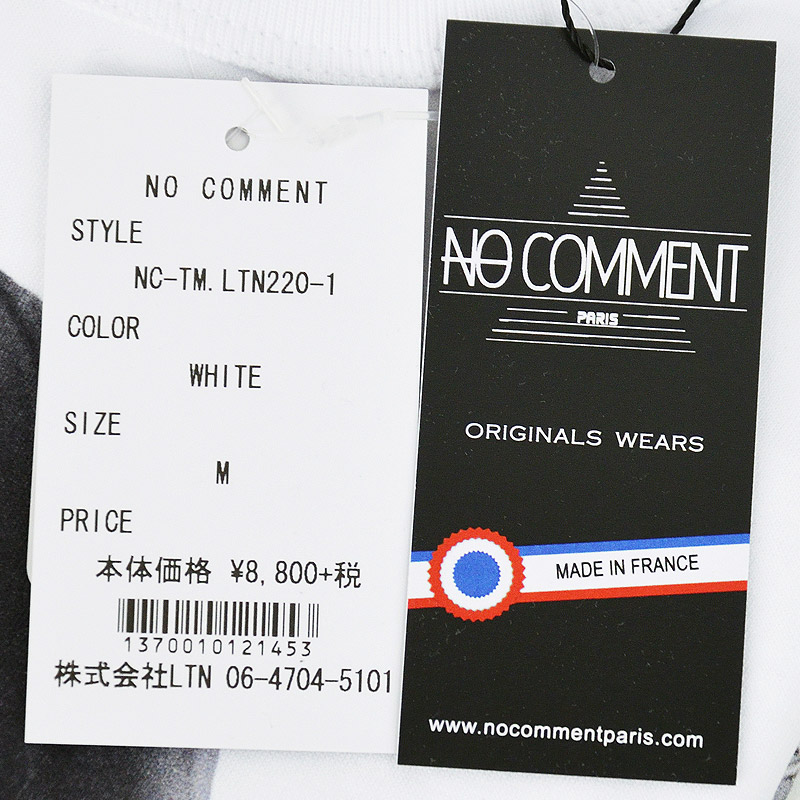LN/NC-TM.LTN220-1<br>NO COMMENT PARIS(ノー・コメント パリ)<br>Marilyn フォトプリント半袖Tシャツ 【正規代理店仕入れ】