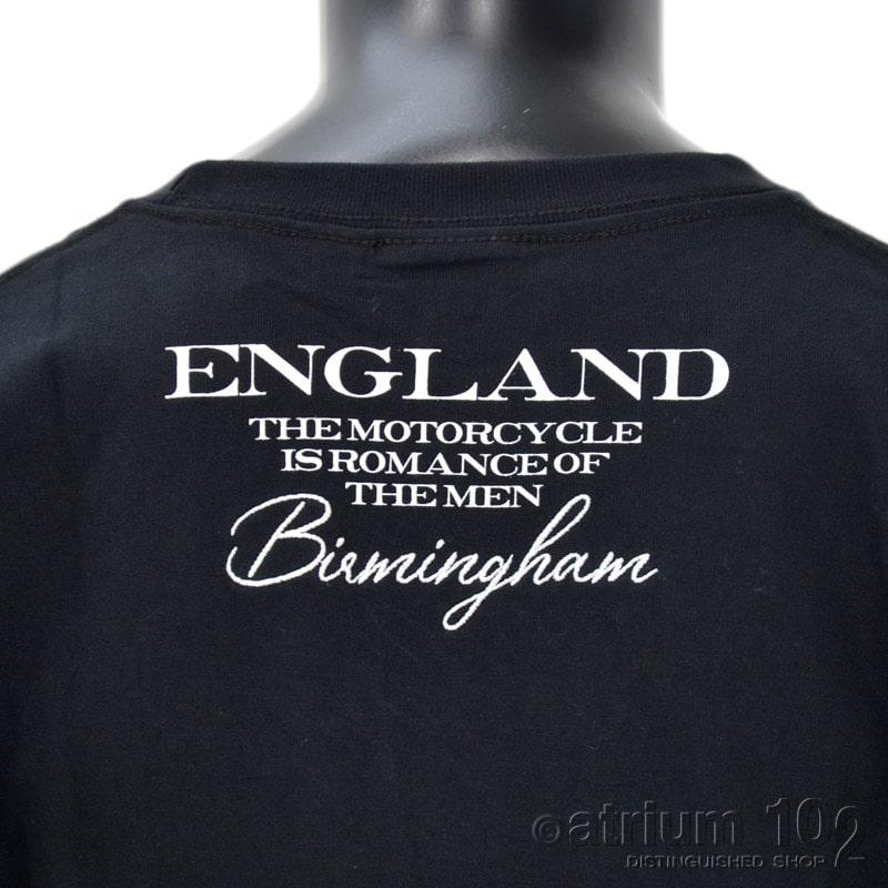 PE/213N1105/Norton Motorcycles(ノートンモーターサイクルズ)マーブル柄ロゴ刺繍長袖Tシャツ バイカー 刺繍