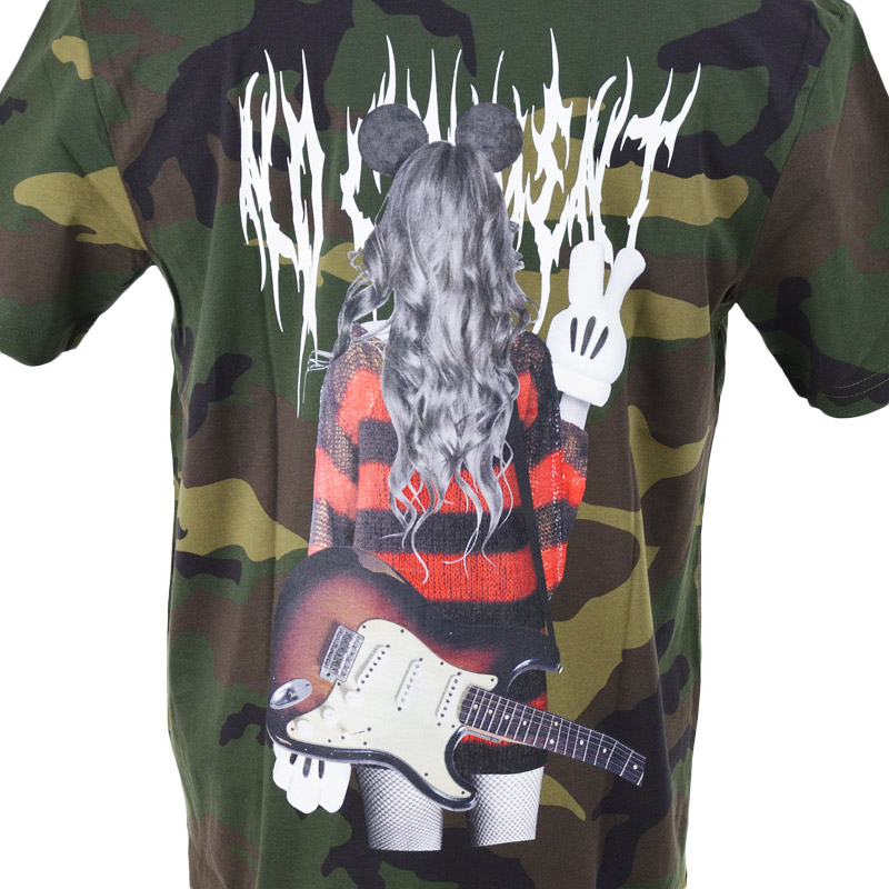 LN/NC-TC.LTN212-1<br>NO COMMENT PARIS(ノー・コメント パリ)<br>Grunge Girlフォトプリント半袖Tシャツ 【正規代理店仕入れ】