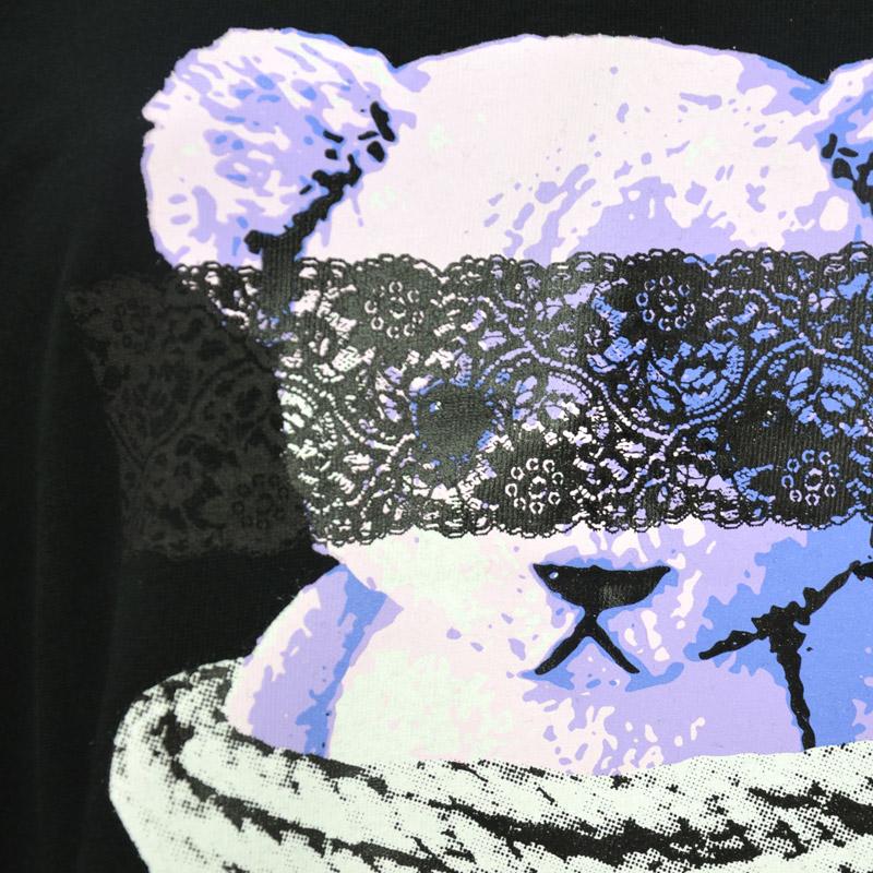 HE/2010507<br>LISTEN FLAVOR(リッスンフレーバー)<br>囚われのベアBIGTシャツ 原宿系