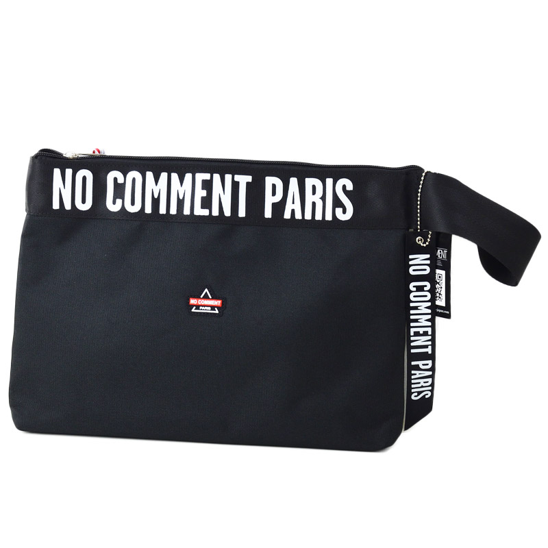 LN/NC-BAG006<br>NO COMMENT PARIS(ノー・コメント パリ)<br>ロゴ クラッチバッグ 【正規代理店仕入れ】