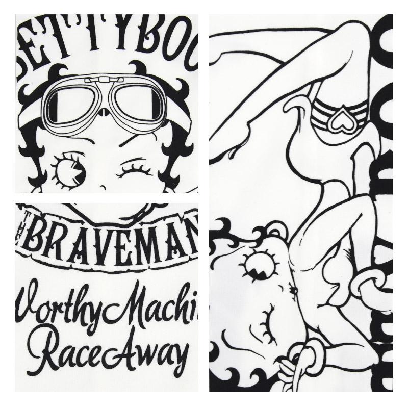 NE/BBB-2124<br>THE BRAVEMAN(ザ ブレイブマン)<br>×BETTY BOOP(ベティー・ブープ) コラボ ドライアームシェードスカル アームカバー
