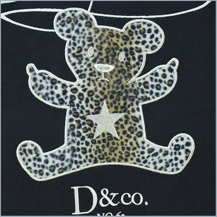 CT/D473004<br>Day&Moon(デイムーン)<br>atrium102 オリジナル レオパード柄クマ 星刺繍 つなぎ オールインワン