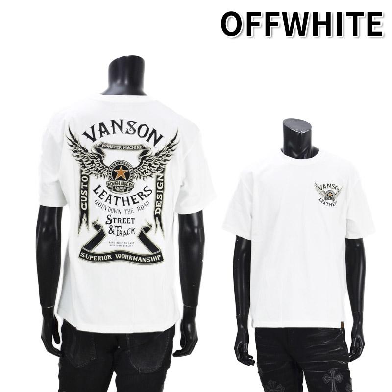 NE/NVST-2106<br>VANSON(バンソン)<br>天竺半袖Tシャツ  フライングスター