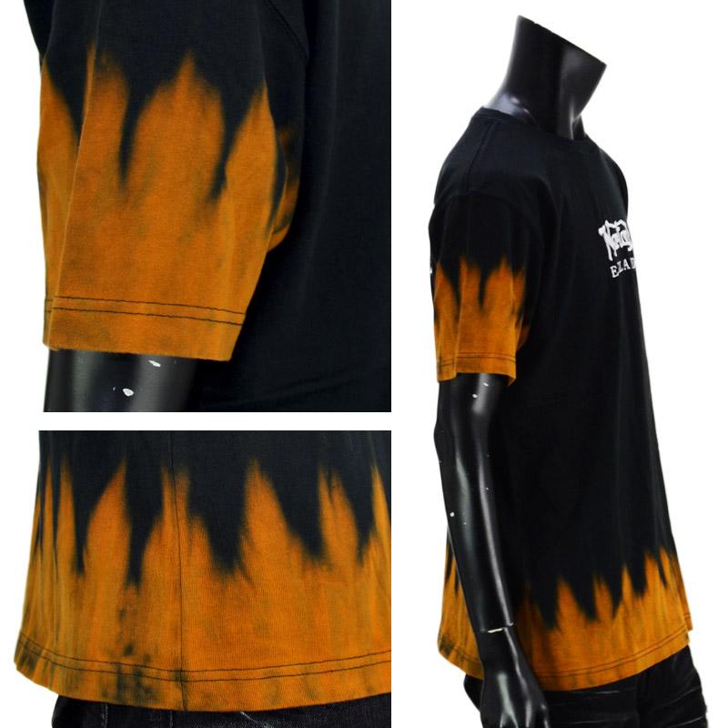 PE/212N1005<br>Norton Motorcycles(ノートンモーターサイクルズ)<br>ヘムライン段染め半袖Tシャツ バイカー 刺繍