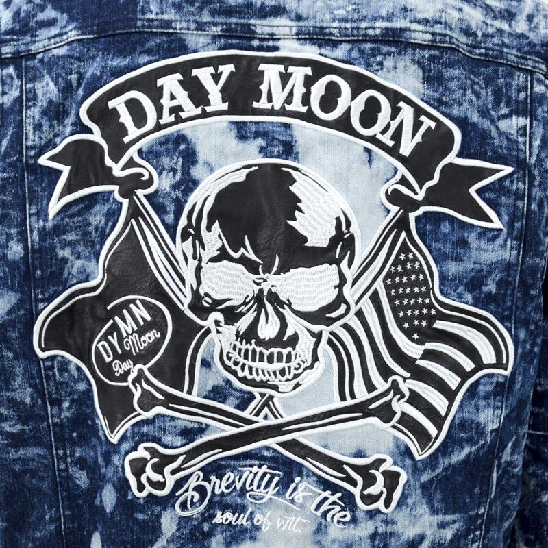 RG/439150<br>Day&Moon(デイムーン)<br>atrium102 オリジナル スカルフラッグ PU・刺繍 2wayつなぎ オールインワン