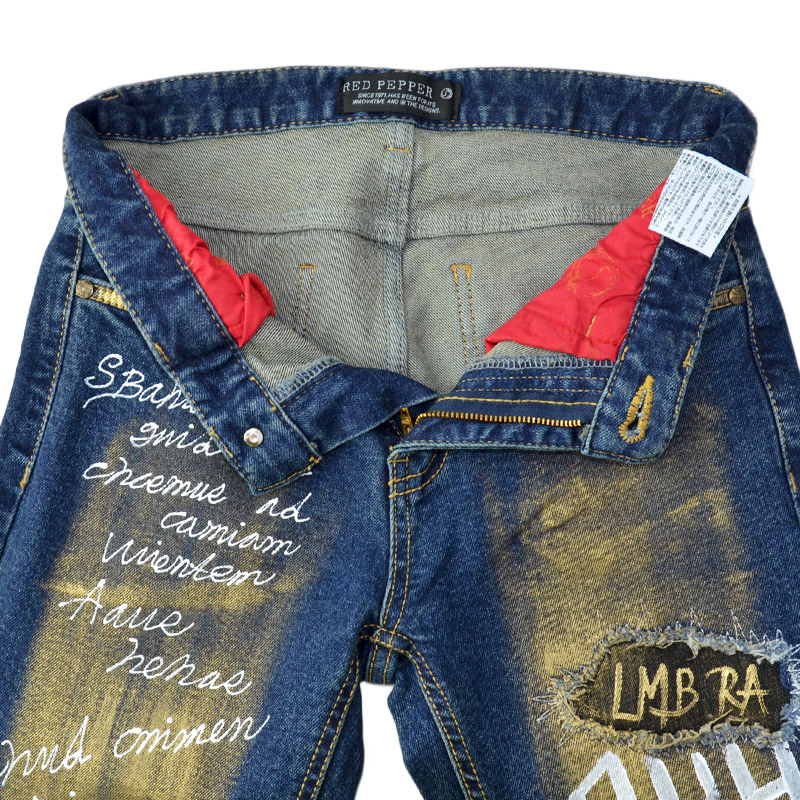 RJ/RJ1110<br>RED PEPPER(レッドペッパー)<br>LADIES   ゴールドペイントスキニー
