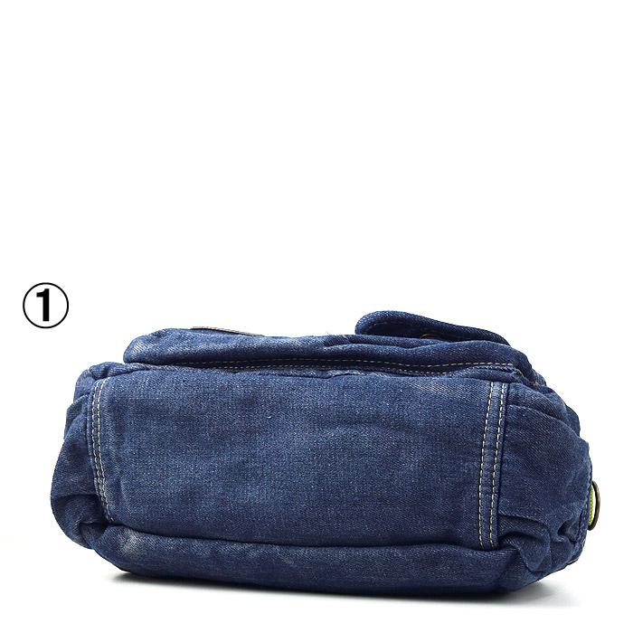 TO/6-960A<br>DENIM BAG(デニムバッグ)<br>2WAYメタルプレートミニバッグ COLORZIP ポケット多数