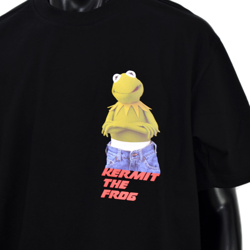 LN/G21FDG006<br>GRAFIKUS (グラフィクス)<br>Kermit カーミット半袖Tシャツ ワーナーブラザーズ、ディズニー 正規キャラクターライセンス取得商品 フォトプリント  【正規代理店仕入れ】