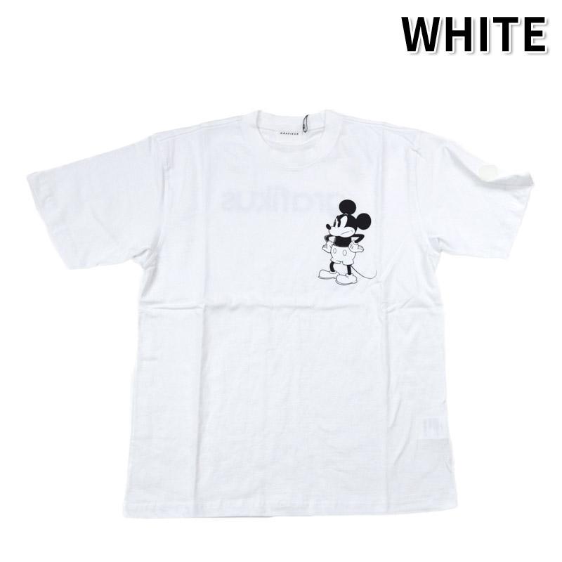 LN/G21FMG005<br>GRAFIKUS (グラフィクス)<br>Mickey Mouse ミッキーマウス モノトーン 半袖Tシャツ ワーナーブラザーズ、ディズニー 正規キャラクターライセンス取得商品 フォトプリント  【正規代理店仕入れ】