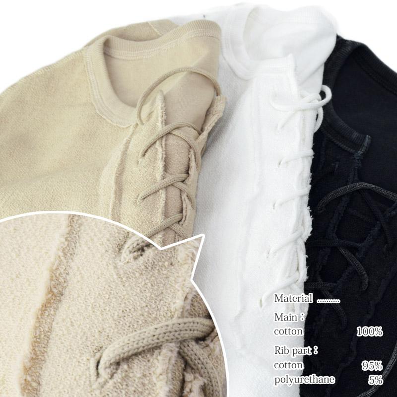 WO/12111467<br>Roger&Raw(ロジャー&ロー)<br>裏毛裏使い裾ブロークンキーネックプルオーバー