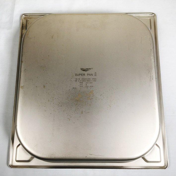 中古 VOLLRATH SUPER PAN II GN 2/3 40mm ホテルパン2/3サイズ 縦354 横325 深さ40mm ステンレススチール