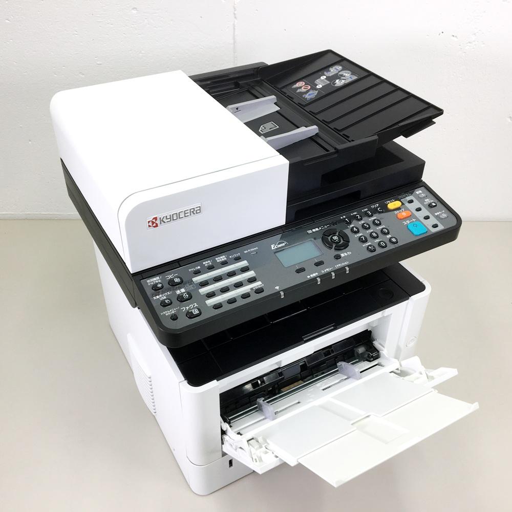 【送料無料】モノクロ複合機 カウント超極小1284枚 京セラ ECOSYSM2540dw コピー FAX プリンター カラースキャナ 最大原稿A4 自動両面 無線LAN 印刷速度40枚/分【中古】