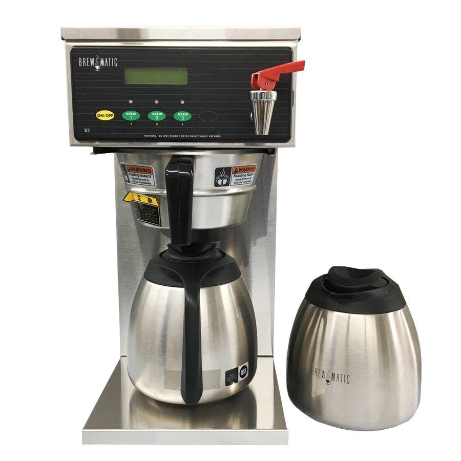 中古 送料無料 BREWMATIC ブルーマチック 業務用コーヒーマシン B3 Decanter 水道直結式ドリップコーヒーマシン 単相200V