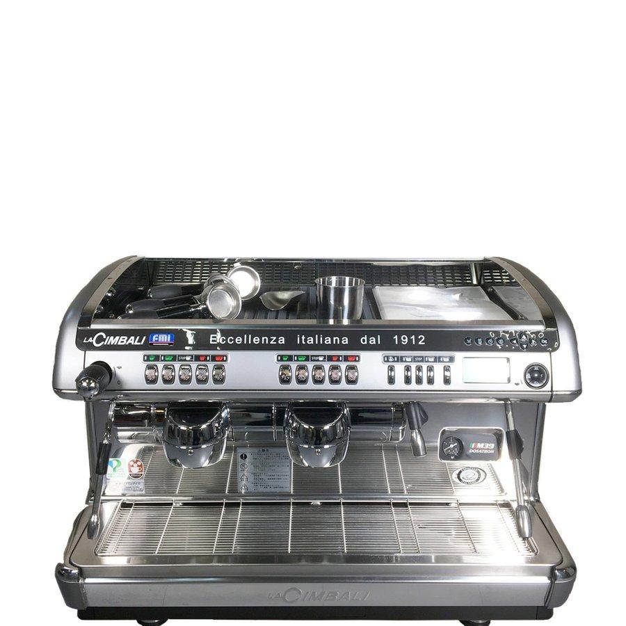 中古 店舗用品 エフ エム アイ LA CIMBALI 2017年製 トラディショナルマシン M39TE DT 2 TS エスプレッソコーヒーマシン