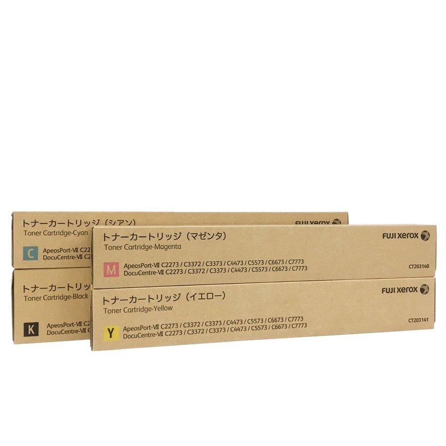 富士ゼロックス トナーカートリッジ CT203138-141 4色セット ApeosPort-VII DocuCentre-VII C2273 C3372 C3373 C4473 C5573 C6673 C7773
